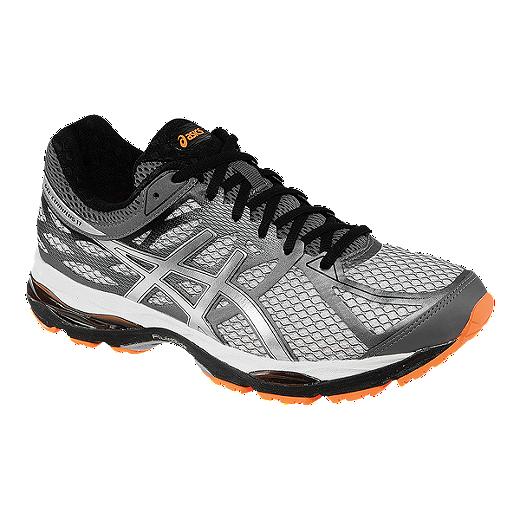ac0bc075b02 ASICS Men s Gel Cumulus 17 Running Shoes - Silver Grey Orange ...