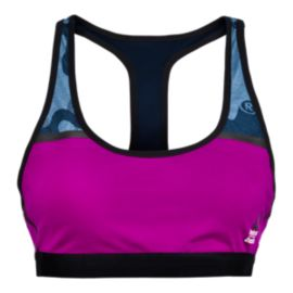 Reebok Crossfit Camo All Over Print Racer Women's Bra