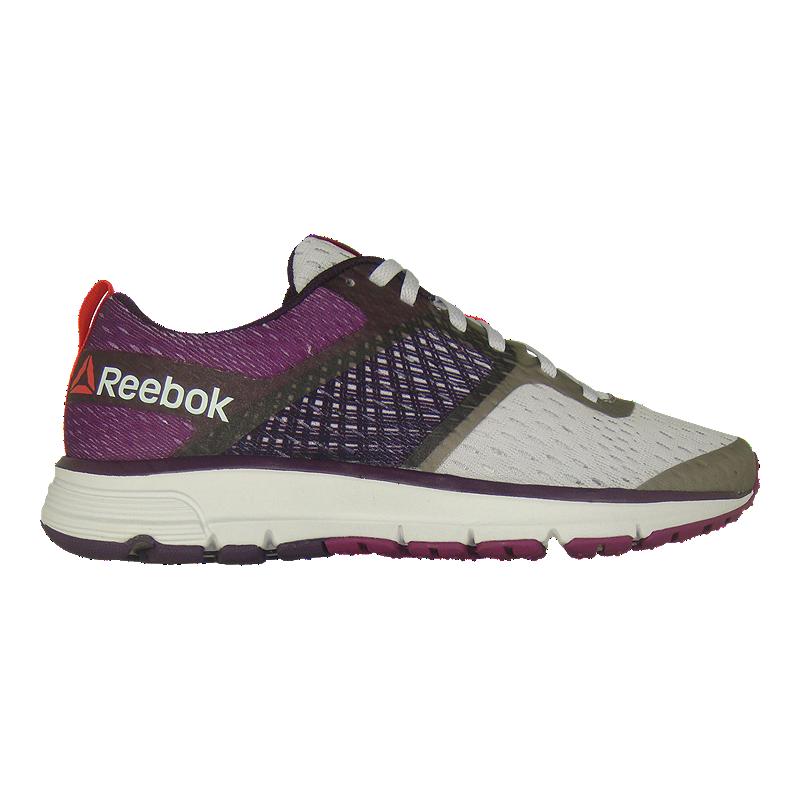 Reebok Women s One Distance Running Shoes - White Grey Purple ... d8674f67b