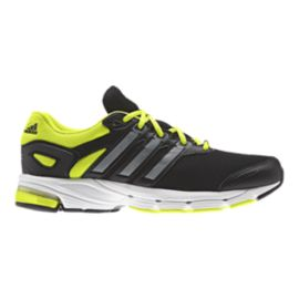 adidas Men's Lightster Cushion 2 Running Shoes - Black/Silver/Lime Green