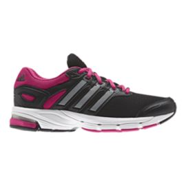 adidas Women's Lightster Cushion 2 Running Shoes - Black/Silver/Berry Purple