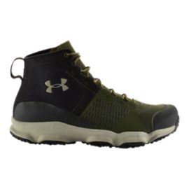 Under Armour SpeedFit Hike Mid Men's Hiking Shoes - Black/Olive Green