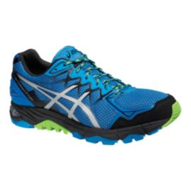 ASICS Men's Gel Fuji Trabuco 4 Neutral Trail-Running Shoes - Blue/Silver