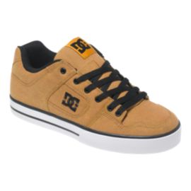 DC Men's Pure TX SE Skate Shoes - Wheat