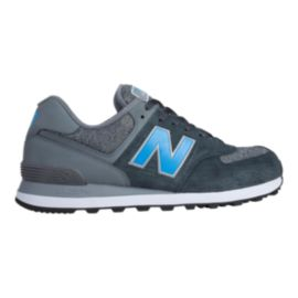 New Balance Men's ML574 Textile Casual Shoes - Grey/Blue
