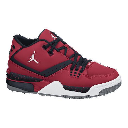 9e3793f26d14f Nike Kids  Jordan Flight 23 Grade School Basketball Shoes - Red ...
