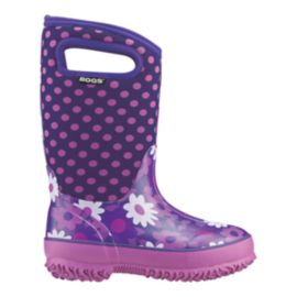 Bogs Girls' Classic Preschool Winter Boots - Plum