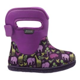 Bogs Toddler Girls Baby Winter Boots - Purple