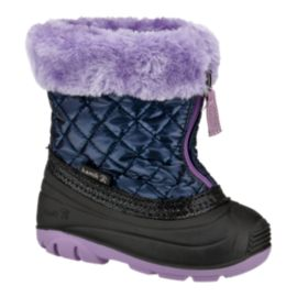 Kamik Toddler Girls' Fluffball Winter Boots - Navy