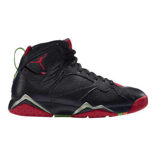 hot sale online 1d989 3fddb Nike Men s Jordan Retro 7 Basketball Shoes - Black Red Green   Sport Chek