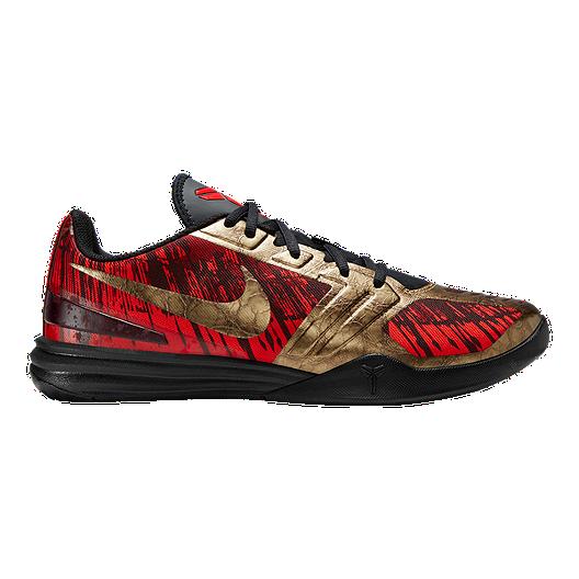 f9b7a5e9824 Nike Men s Kobe Mentality Basketball Shoes - Black Red