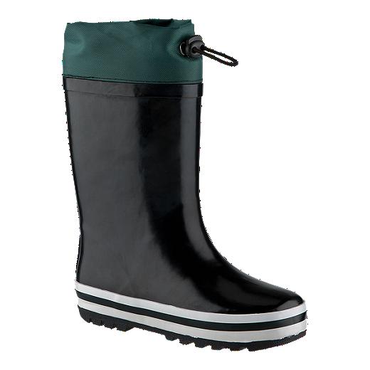 exklusives Sortiment 2019 Neupreis kaufen Firefly Kids' Freddy Lined Rain Boots - Black/Green | Sport Chek