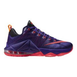 Nike Men's LeBron 12 Low Basketball Shoes - Purple/Red