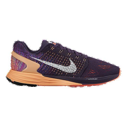 6280e5da181e Nike Women s LunarGlide 7 Running Shoes - Purple Orange