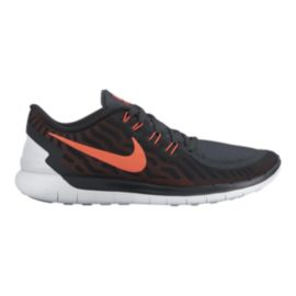 Nike Men's Free 5.0 2015 Running Shoes - Black/Orange/White
