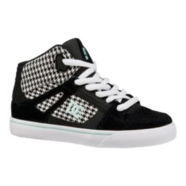 DC Girls' Spartan HI Grade School Skate Shoes - Black/White