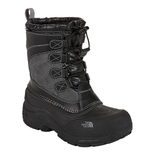 5ebf99c62a1 The North Face Kids  Alpenglow Lace Winter Boots - Black