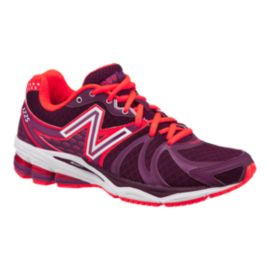 New Balance Women's 1225 D Wide Width Running Shoes - Purple/Red/White
