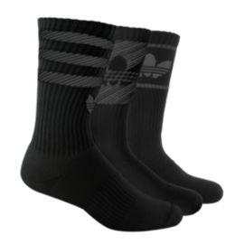 adidas Originals Variety Trefoil Men's Crew Socks-3-Packs