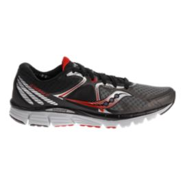 Saucony Men's PowerGrid Kinvara 6 Running Shoes - Black/Silver/Red
