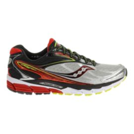 Saucony Men's PowerGrid Ride 8 Running Shoes - Silver/Black/Red