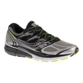 Saucony Men's ISO Hurricane Running Shoes - Silver/Black/Green