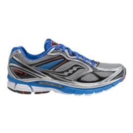 Saucony Men's PowerGrid Guide 7 Running Shoes - Silver/Blue/Black