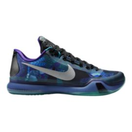 Nike Men's Kobe X Basketball Shoes - Blue/Purple Pattern/Black