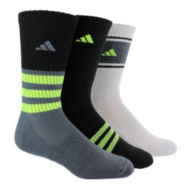 adidas Cushioned Assorted colour Kids' Crew Socks - 3-Pack