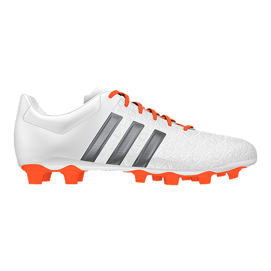 dc488d301 adidas Women s Ace 15.4 FG Outdoor Soccer Cleats - White Orange Silver