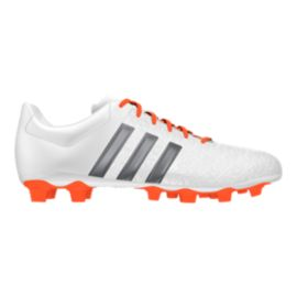adidas Women's Ace 15.4 FG Outdoor Soccer Cleats - White/Orange/Silver