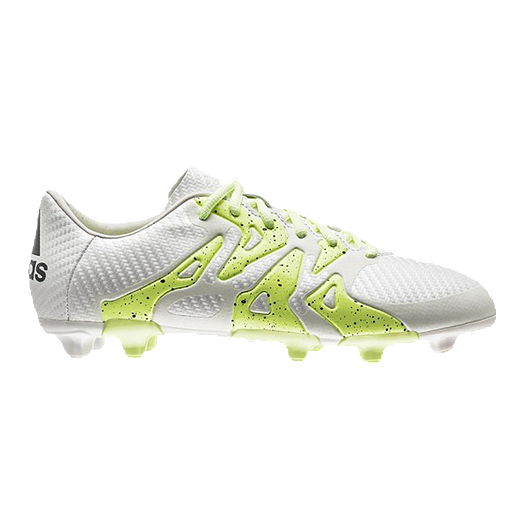 490f463f99d adidas Women s X 15.3 WC FG Outdoor Soccer Cleats - White Lime Green ...
