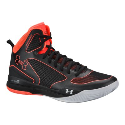 Under Armour Men's Anatomix Lightning II Basketball Shoes - Black/Orange
