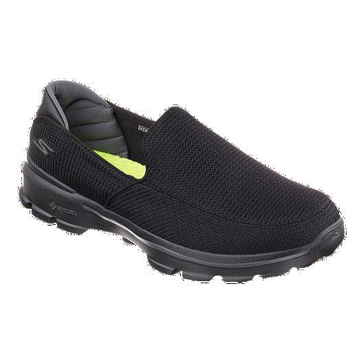 2317e1b02d3a2 Skechers Men's Go Walk 3 Fit Knit Casual Shoes - Black | Sport Chek