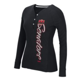 Ottawa Senators CCM Ribbed Slub Long Sleeve Women's Henley
