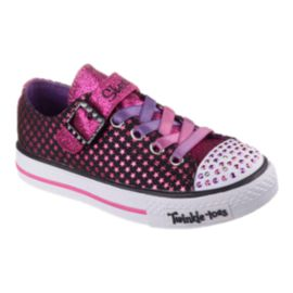 Skechers Girls' Twinkle Toes Preschool Casual Shoes - Shuffles