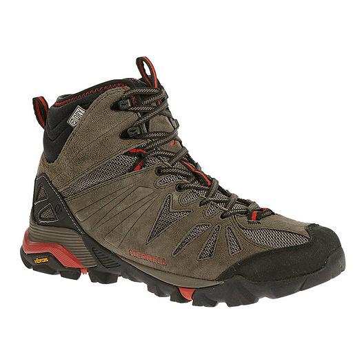 b173c6b84bb Merrell Capra Mid Waterproof Men's Hiking Boots - Dark Brown/Black ...