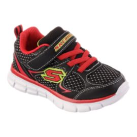 Skechers Toddler Synergy Mini Dash Casual Shoes - Black/Red/Yellow