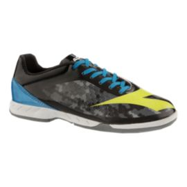 Diadora Kids' Libero Indoor Soccer Shoes - Black/Grey/Yellow