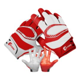 Cutters Rev Pro Yin Yang Football Glove - Red/White