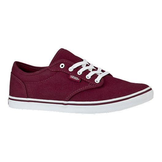 18c011bc96 Vans Women s Atwood Low Skate Shoes - Burgundy White