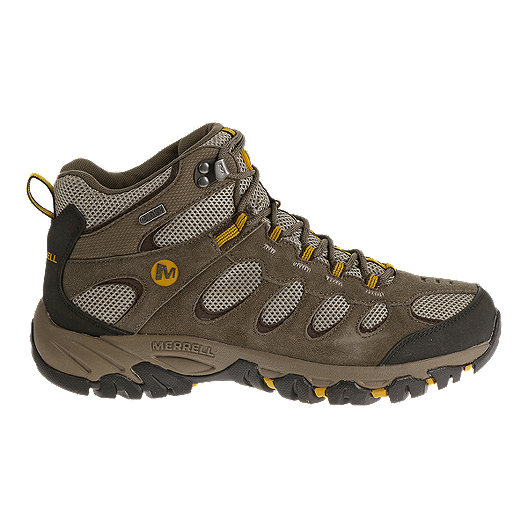2abbbdd64ce Merrell Men's Ridgepass Mid WP Multi-Sport Boots - Boulder/Old Gold ...