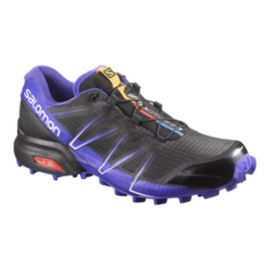 Salomon Women's SpeedCross Pro Trail Running Shoes - Dark Grey/Purple