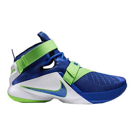 100% authentic f9610 efe1e Nike Men's LeBron Soldier IX Basketball Shoes - Blue/Green ...