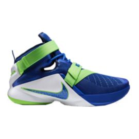 Nike Men's LeBron Soldier IX Basketball Shoes - Blue/Green/White