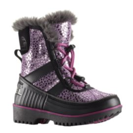 Sorel Girls' Tivoli II Preschool Winter Boots - Berry/Black