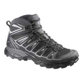 Salomon Men's X Ultra Mid 2 Spikes GTX Hiking Shoes - Black