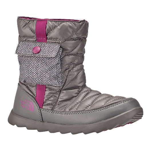 6c9b168f4ffd8 The North Face Women's Thermoball Bootie Winter Boots - Grey/Purple | Sport  Chek