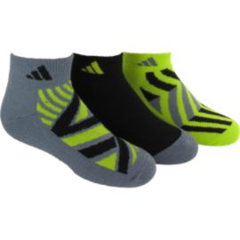 adidas Cushioned Graphic Kids' Low Cut Socks - 3-Pack