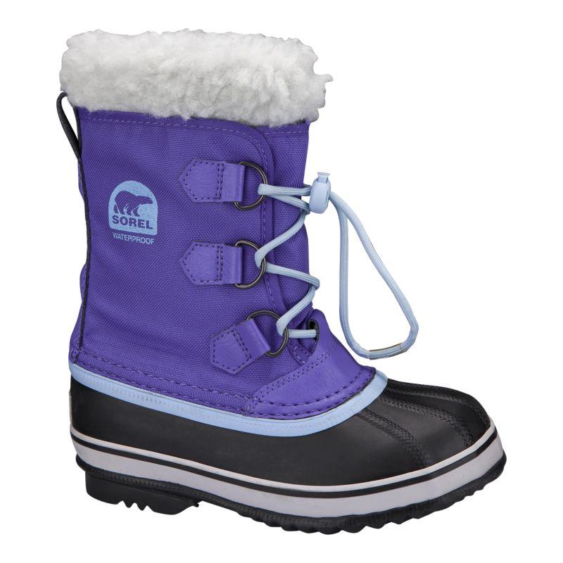sorel yoot pac winter boots purple blue